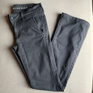 American Eagle Kick Boot Twill Pants (Dark Grey)